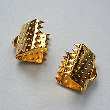 Komponenty - Koncovka 8mm-1ks (zlatá) - 8692109_