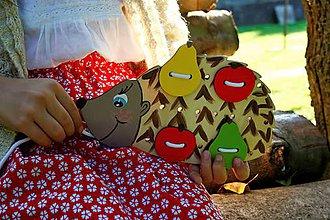 Hračky - Prišívacia hračka ježko prírodný - 8688961_