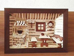 """Obrázky - Drevený obraz 3D  """"Kuchynka"""" veľká - 8688202_"""