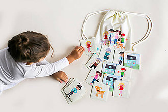 Hračky - Látkové pexeso s ruksakom \