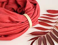 Červený elegantný nákrčník z jersey ľanovej látky