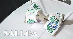 Detské doplnky - Detský folklórny motýlik - latte - 8691991_