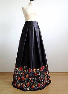 Sukne - slávnostná sukňa Farebný ornament - 8688292_