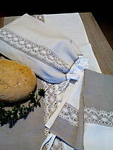 Úžitkový textil - Darčeková sada ľanových kuchynských doplnkov - 8690454_