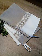 Úžitkový textil - Darčeková sada ľanových kuchynských doplnkov - 8690459_