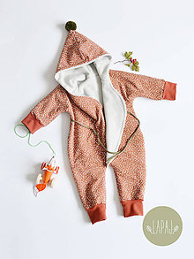 Detské oblečenie - BIO zavinovací overal - 8687367_