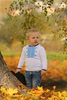 Detské oblečenie - Detské folkórne tričko Ja som malý remeselník - 8688225_