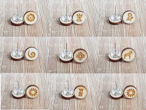 Náušnice - Náušnice drevené-set 3 páry - 8689084_