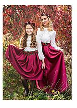 Sukne - Maxi saténová sukňa - 8688095_