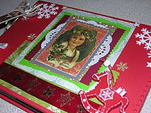 "Papiernictvo - Vianočný vintage fotoalbum ""Merry Christmass"" A4 - 8689712_"