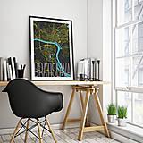 Grafika - BRATISLAVA, elegantná, čierna (50x70cm) - 8688020_