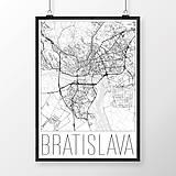 Grafika - BRATISLAVA, moderná, biela - 8688146_