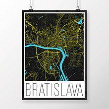 Grafika - BRATISLAVA, moderná, čierna - 8687999_