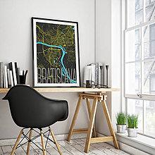 Grafika - BRATISLAVA, elegantná, čierna - 8688020_
