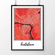 Grafika - BRATISLAVA, klasická, červená - 8688038_