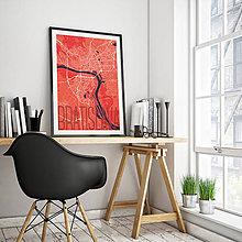 Grafika - BRATISLAVA, elegantná, červená - 8688048_
