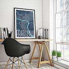 Grafika - BRATISLAVA, elegantná, tmavomodrá - 8688055_