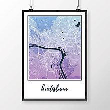 Grafika - BRATISLAVA, klasická, modro-fialová - 8688093_