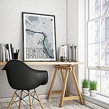 Grafika - BRATISLAVA, elegantná, svetlomodrá - 8688102_