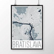 Grafika - BRATISLAVA, moderná, svetlomodrá - 8688124_