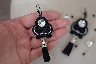 Náušnice - Soutache earrings / Ručne šité šujtášové náušniče  (Sofia) - 8689843_