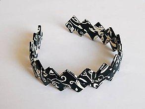 Ozdoby do vlasov - Čelenka - čierna so vzorom - 8688721_