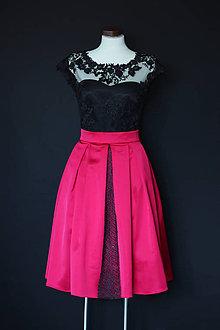 bd9f3706f111 Šaty - Koktejlové šaty s tylovou krajkou a skladanou sukňou rôzne farby -  8688390