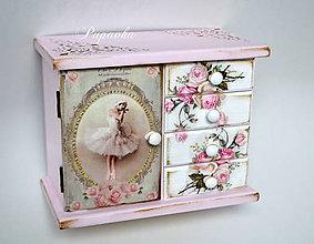 Krabičky - Balerína komodka - 8688798_