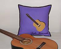 Úžitkový textil - gitara moja láska - 8692422_
