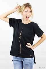 Tričká - Dámske tričko čierne IO1 - 8690840_