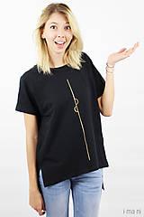 Tričká - Dámske tričko čierne IO1 - 8690842_