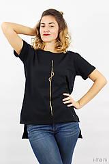 Tričká - Dámske tričko čierne IO1 - 8690845_