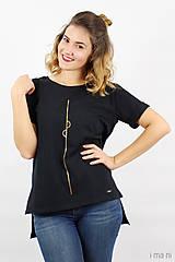 Tričká - Dámske tričko čierne IO1 - 8690848_