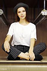 - Dámske tričko biele M13t IO2 - 8691654_
