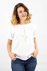 Tričká - Dámske tričko biele IO2 - 8691659_