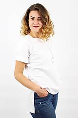 Tričká - Dámske tričko biele IO2 - 8691661_
