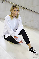 - Dámska mikina biela M13m IO3 - 8691733_