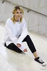 Mikiny - Dámska mikina biela M13m IO3 - 8691733_