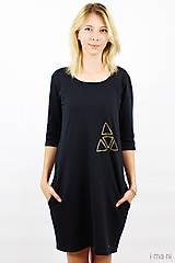 Šaty - Mikinošaty s vreckami čierne IO5 - 8691820_