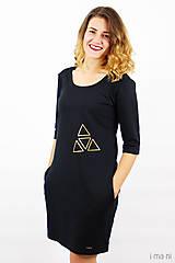 Šaty - Mikinošaty s vreckami čierne IO5 - 8691822_