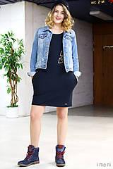 Šaty - Mikinošaty s vreckami čierne IO5 - 8691823_