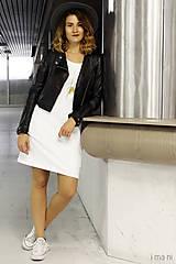 Šaty - Mikinošaty s vreckami biele IO6 - 8691848_