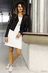 Šaty - Šaty s vreckami biele z teplákoviny M14 IO6 - 8691848_