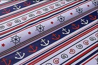 Textil - Bavlnená látka námornícka - 8693225_