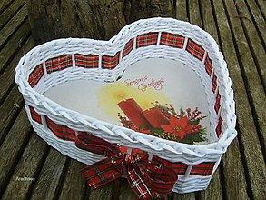 Košíky - Vianočný košíček - 8694651_
