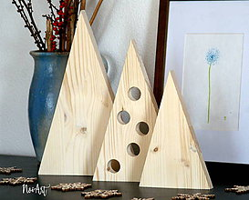 Dekorácie - Vianočné stromčeky sada NATUR - 8695766_