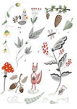 - V lese - ilustrácia / print vlastného obrazu - 8693590_