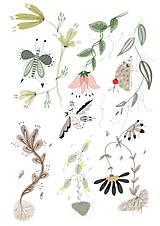 Obrazy - V lese 2 ilustrácia / print vlastného obrazu - 8693629_