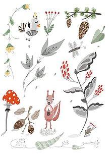 Obrazy - V lese - ilustrácia / print vlastného obrazu - 8693590_