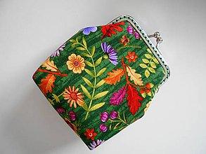Peňaženky - Peňaženka zelená jeseň - 8696805_